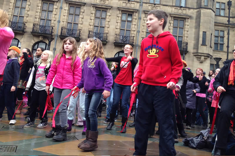 Children in the Peace Gardens